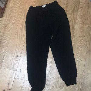 Cuffed Aritzia Black Trousers